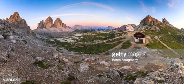 Tre cime panorama in Dolomite, Italy