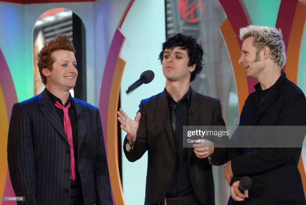 Tre Cool, Billie Joe Armstrong and Mike Dirnt of Green Day