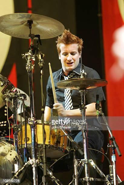 Tre Cool of Green Day during Green Day and Jimmy Eat World 'American Idiot' Tour Carson October 8 2005 at Home Depot Center in Carson California...
