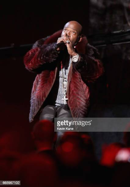 Treach performs 2017 Inductee Tupac Shakur onstage at the 32nd Annual Rock Roll Hall Of Fame Induction Ceremony at Barclays Center on April 7 2017 in...