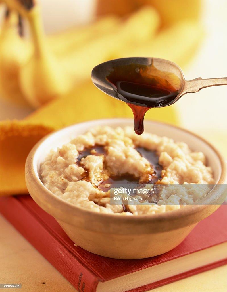 Treacle over oatmeal