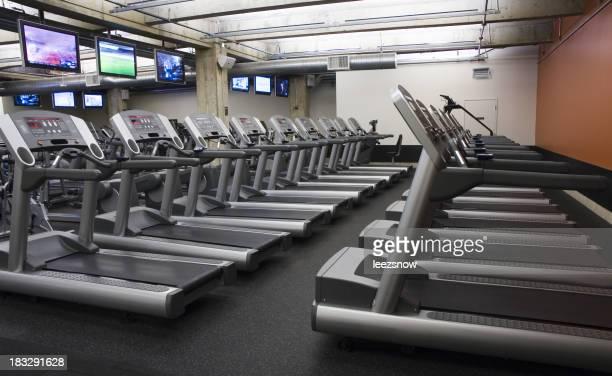 Treadmills at a health club