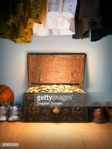 Treasure chest in a closet