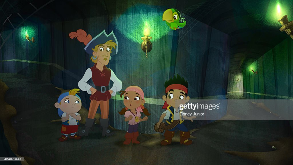 PIRATES - 'Treasure of the Pirate Mummy's Tomb' - Jake's crew encounters a pirate mummy while they search for a magical staff that will dig Captain Flynn's ship out of desert sand. This episode of 'Jake and the Never Land Pirates' airs Friday, January 3 (8:30 AM - 9:00 AM ET/PT), on Disney Junior. (Image by Disney Junior via Getty Images) CUBBY, CAPTAIN