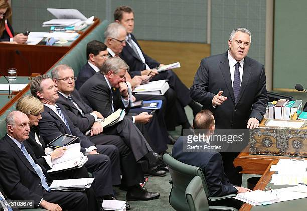 Treasurer Joe Hockey during House of Representatives question time at Parliament House on May 13 2015 in Canberra Australia The Abbott Government's...