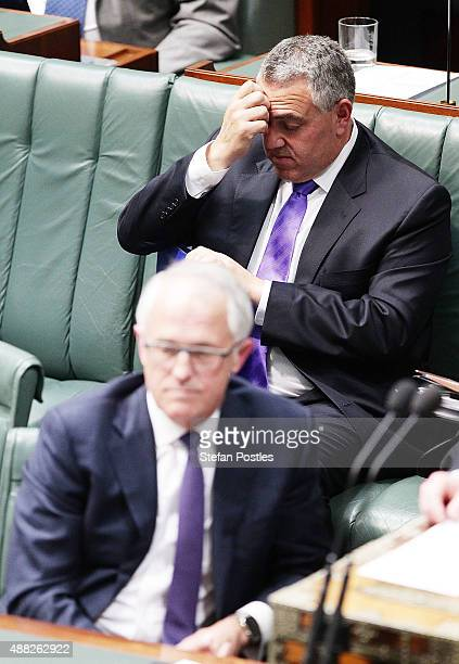 Treasurer Joe Hockey during House of Representatives question time at Parliament House on September 15 2015 in Canberra Australia Malcolm Turnbull...