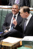 Treasurer Joe Hockey during Question Time at Parliament House on July 15 2014 in Canberra Australia A vote on the Government's Carbon Tax Repeal...