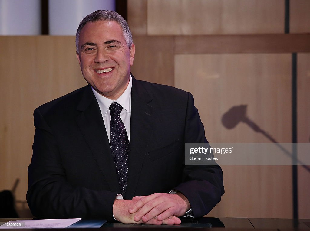 Treasurer <a gi-track='captionPersonalityLinkClicked' href=/galleries/search?phrase=Joe+Hockey&family=editorial&specificpeople=2961513 ng-click='$event.stopPropagation()'>Joe Hockey</a> gives his post budget address at National Press Club on May 13, 2015 in Canberra, Australia. The Abbott Government's second budget release has discarded the widely criticized medicare co-payment and includes changes in key areas such youth unemployment benefits, small business tax relief and cuts to foreign aid