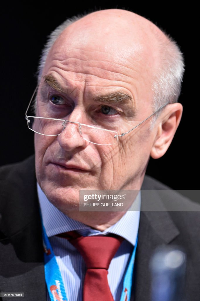 AFD treasurer Klaus Fohrmann attends a party congress of the German right wing party AfD (Alternative fuer Deutschland) at the Stuttgart Congress Centre ICS on May 1, 2016 in Stuttgart, southern Germany. / AFP / Philipp GUELLAND