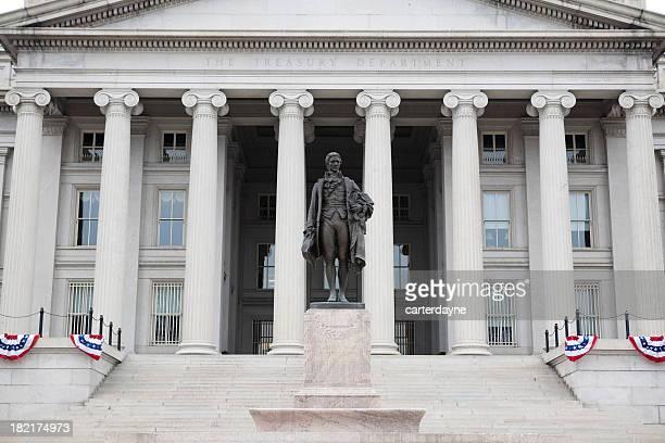 US Treasury Building and Statue, Washington DC