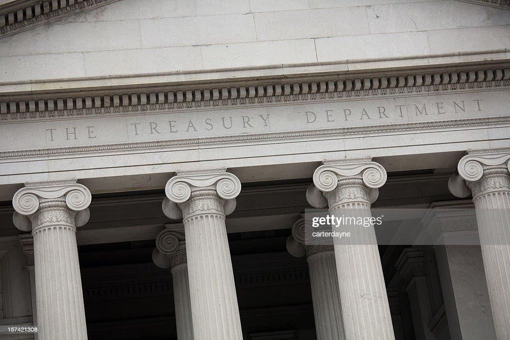 US Treasury Building, Washington DC Slanted Perspective