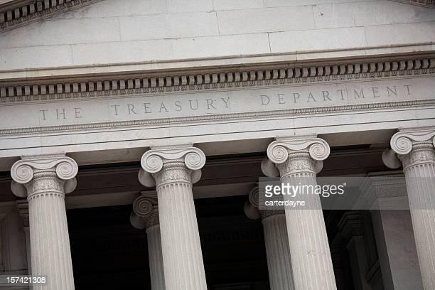 US Treasury Building, Washington, DC, abgeschrägte Perspektive
