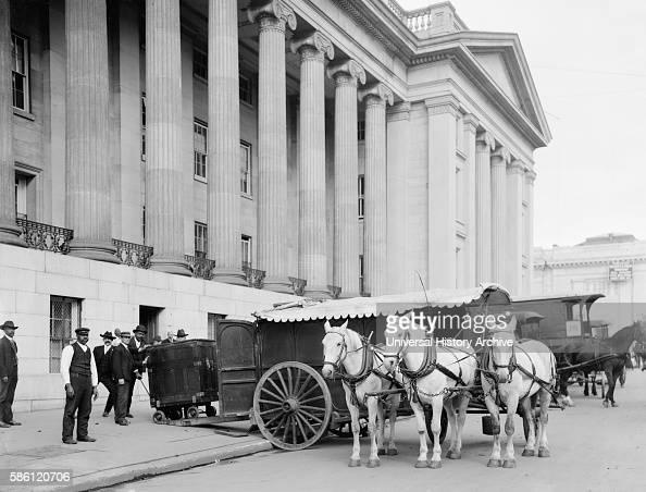 US Treasury Currency Wagon Washington DC USA circa 1906