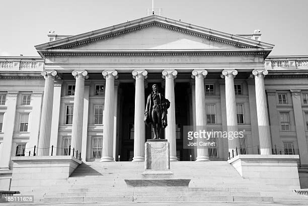 EE. UU. Departamento de Tesorería edificio en Washington DC