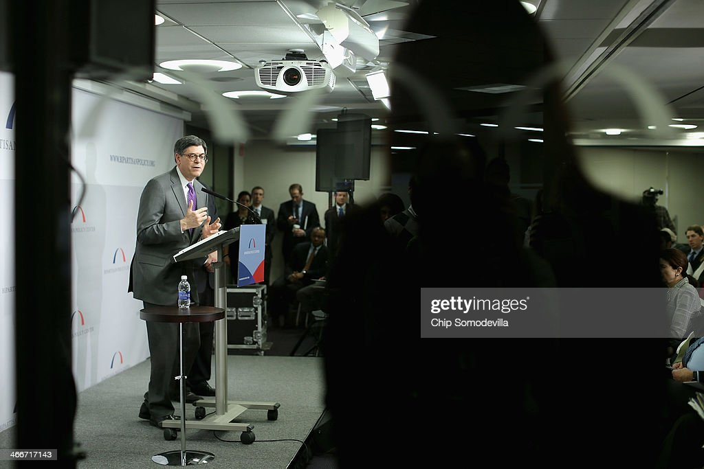 Treasury Secretary Jacob Lew delivers keynote remarks and answers questions during an event about the federal debt limit at the Bipartisan Policy Center February 3, 2014 in Washington, DC. Lew urged the Congress to raise the debt limit, saying that the Treasury will have to use special steps to continue selling debt if the ceiling is not raised by February 7.