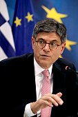 US Treasury Secretary Jacob Lew speaks during a press conference after his meeting with the Greek Finance Minister in Athens on July 21 2016 / AFP /...