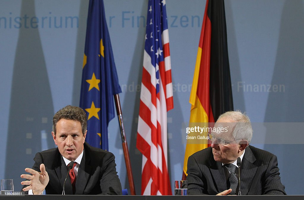 Timothy Geithner Meets With German Finance Minister In Berlin