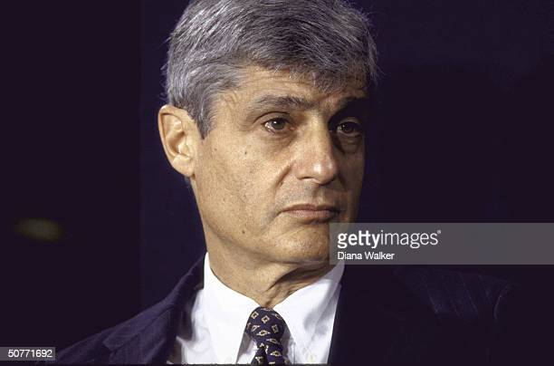 Treasury Secy Robert Rubin in serious portrait