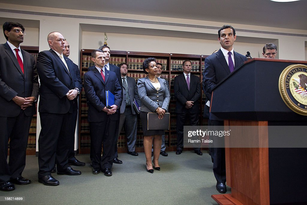 Treasury Under Secretary for Terrorism and Financial Intelligence David Cohen speaks during a news conference to announce money laundering charges against HSBC on December 11, 2012 in the Brooklyn borough of New York City. HSBC Holdings plc and HSBC USA NA have agreed to pay $1.92 billion and enter into a deferred prosecution agreement with the U.S. Department of Justice in regards to charges involving money laundering with Mexican drug cartels.