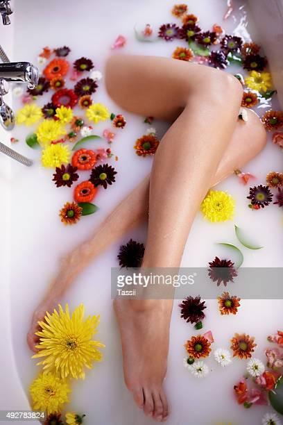 Treat yourself to a luxurious homemade milk bath
