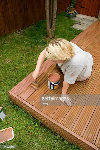 Treating the decking