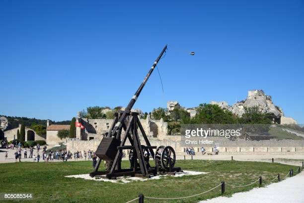 Trebuchet Siege Engine & Les Baux Castle Les Baux-de-Provence Provence France