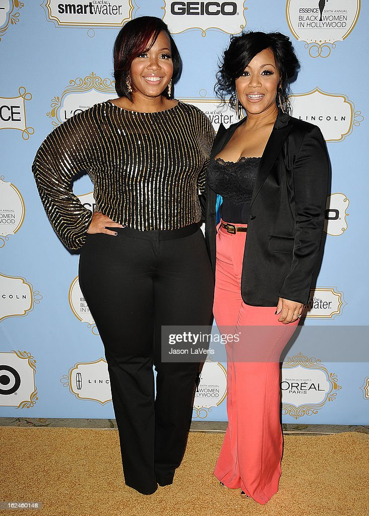 Trecina 'Tina' Atkins-Campbell and Erica Atkins-Campbell of the gospel duo Mary Mary attend the 6th annual ESSENCE Black Women In Hollywood awards luncheon at Beverly Hills Hotel on February 21, 2013 in Beverly Hills, California.