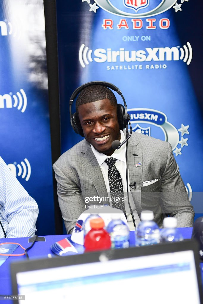 Tre'Davious White of LSU visits the SiriusXM NFL Radio talkshow after being picked #27 overall by the Buffalo Bills during the first round of 2017 NFL Draft at Philadelphia Museum of Art on April 27, 2017 in Philadelphia, Pennsylvania.
