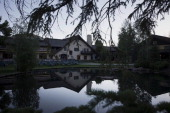 Tree branches hang near the Sun Valley Inn stands ahead of the Allen Co Media and Technology Conference in Sun Valley Idaho US on Monday July 7 2014...