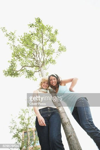 Tree Huggers : Foto stock