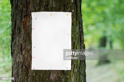 木のポスター