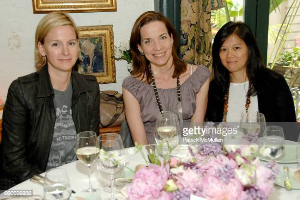Treena Lombardo Sonja Winther and Jasmine Chang attend CHANTELLE 60th ANNIVERSARY LUNCHEON at Le Grenouille on May 15 2009 in New York City