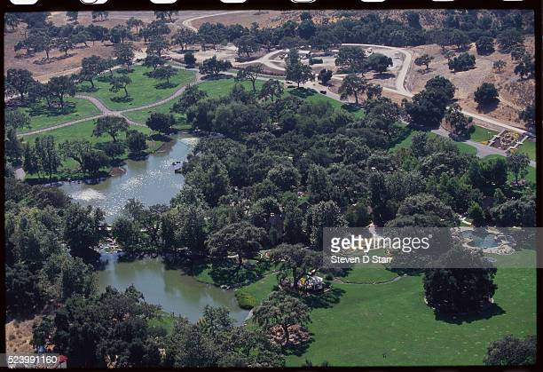 Trees and ponds are spread over the grounds of Michael Jackson's home Neverland Ranch Neverland is located in the Santa Ynez Valley in Santa Barbara...