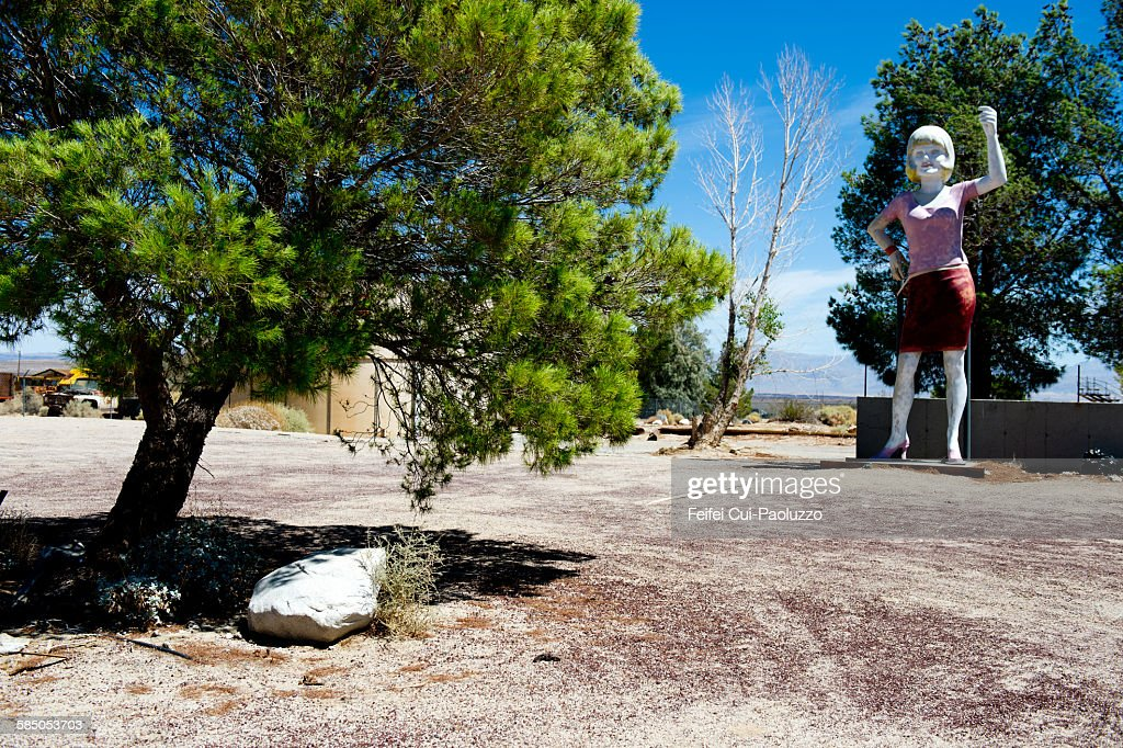 Trees and Woman at Pearsonville California State