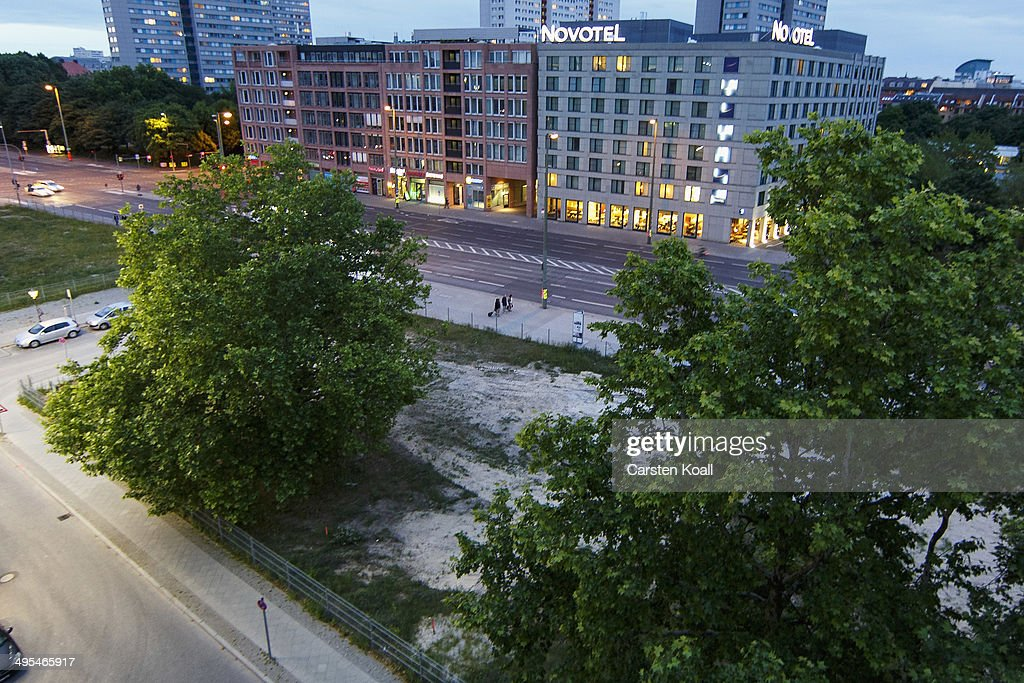 Trees inhabit the construction site of the future 'House of One' at Petriplatz on June 3, 2014 in Berlin, Germany. The initiative is meant to bring together Jews, Christians and Muslims together in a building that houses a synagogue, a church and a mosque with a common area for exchange.