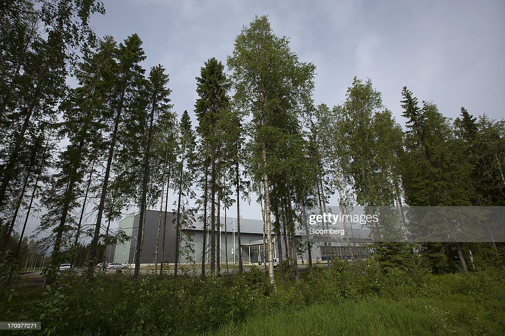 Trees surround part of the new data storage facility for Facebook Inc. near the Arctic Circle in Lulea, Sweden, on Wednesday, June 12, 2013. The data center is Facebook's first outside the U.S., poised to handle all data processing from Europe, Middle East and Africa and the server hub is largest of its kind in Europe, and most northerly of its magnitude anywhere on earth. Photographer: Simon Dawson/Bloomberg via Getty Images