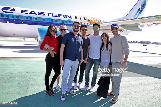 Trek fans cast and crew arrived in San Diego for the world premiere of the new Star Trek film aboard a special Eastern Airlines 737 Next Generation...