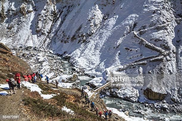 Trek in Himalayas, Annapurna Circuit, Nepal