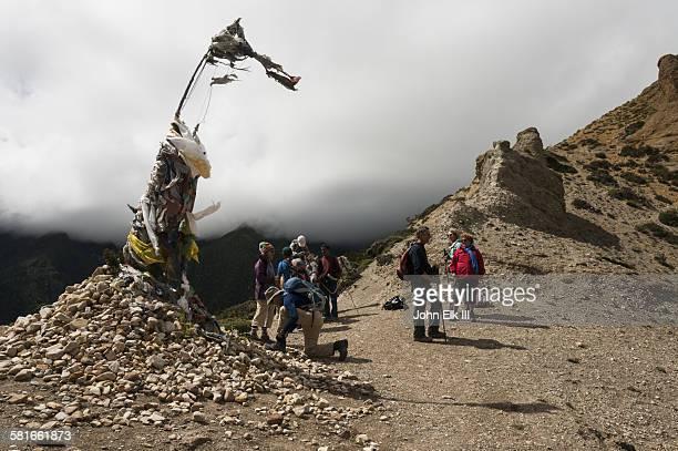Trekkers atop Bhena La pass