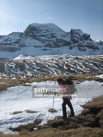 Trekking Canfranc-Formigal (Pyrenees) : Stock Photo