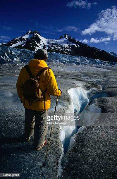 Trekking on Walker Glacier in Glacier Bay National Park and Preserve.