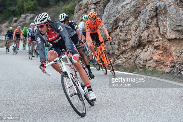 Trek's Spanish rider Alberto Contador rides on the sixth stage of the 97th Volta Catalunya 2017 a 1897km from Tortosa to Reus in Bot on March 25 2017...