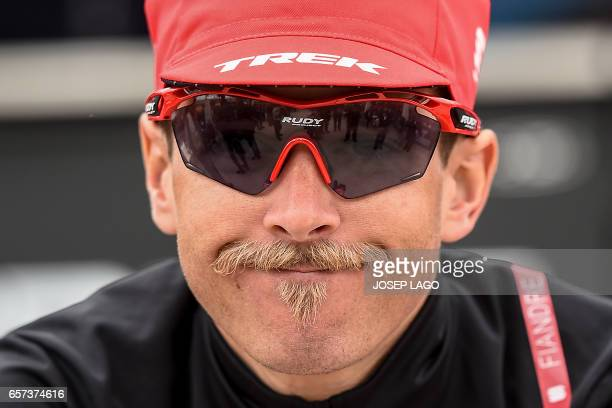 Trek's US rider Peter Stetina smiles before the start before the start of the fifth stage of the 97th Volta Catalunya 2017 a 182km from Valls to Lo...
