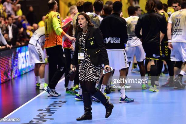 Tremblay press attache Vanessa Khalfa Duval during Lidl StarLigue match between Tremblay and Dunkerque on September 20 2017 in Tremblay France