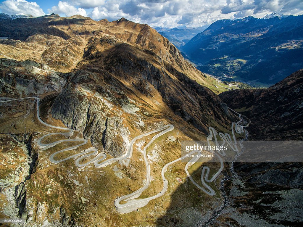 Tremola road, the world-famous serpentine road on slopes of the Val Tremola was created with the construction of the Gotthard pass road.