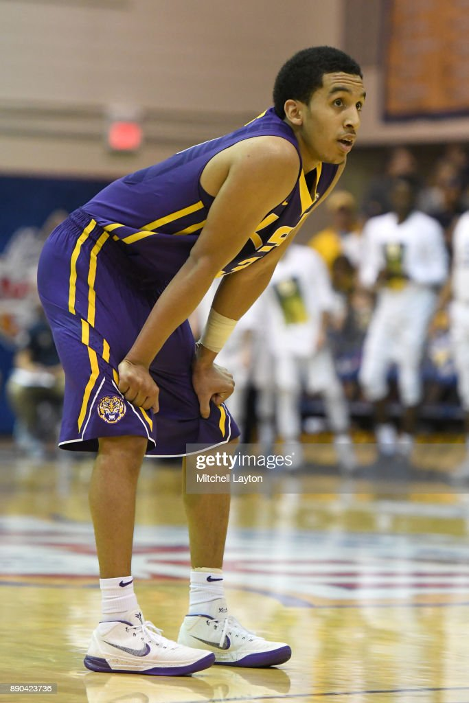 Tremont Waters #3 of the LSU Tigers looks on during a consultation college basketball game at the Maui Invitational against the Marquette Golden Eagles at the Lahaina Civic Center on November 22, 2017 in Lahaina, Hawaii. The Golden Eagles won 94-84.