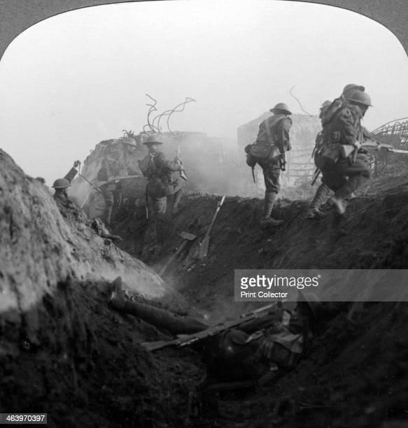 Trench warfare on the Hindenburg Line Bellicourt France World War I 19171918 The Hindenburg Line was a vast system of defences built on the Western...