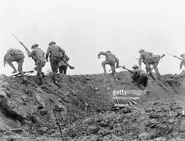 Trench Warfare On The Western Front During The First World War Still from the British documentary film 'The Battle of the Somme' The image is part of...
