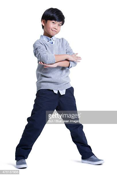 Trendy boy posing