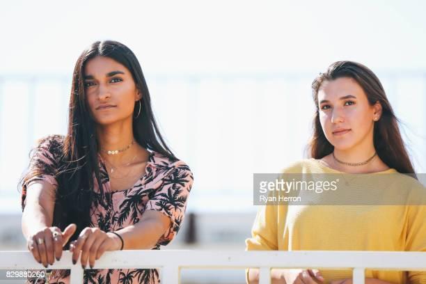 Trendy diverse teen friends